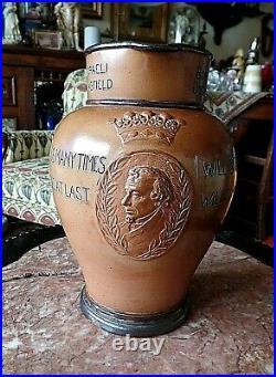 Scarce Lambeth Doulton Benjamin Disraeli Earl of Beaconsfield Stoneware Jug Ewer