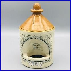Smaller 1 Pint Sanitary Fountain Victorian Doulton Lambeth Bird Feeder 1890s