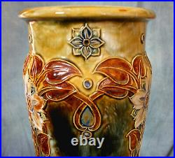 Stunning, Large Doulton Lambeth Tube Lined Arts & Crafts Vase Narcissus