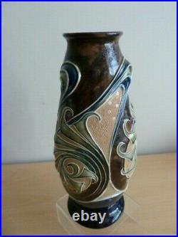 Stunning Royal Doulton Lambeth Stoneware Vase By Frank Butler