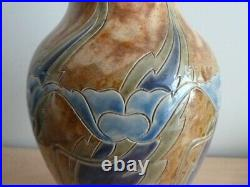 Stunning Royal Doulton Lambeth Stoneware Vase Eliza Simmance