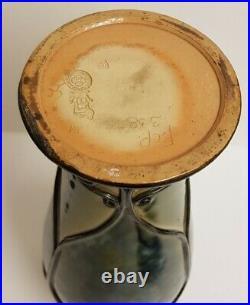 Tall Royal Doulton Lambeth saltglaze stoneware Art Nouveau Vase by Francis Pope