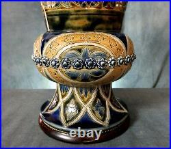V. Rare Early Doulton Lambeth Stoneware Gothic Revival Vase Emily Stormer 1879