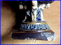 Very Rare Antique Large Doulton Lambeth Jardiniere Cherubs Lions George Tinworth