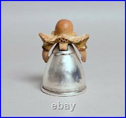 Very Rare Antique Novelty Doulton Lambeth And Silver Suffragette Inkwell 1909