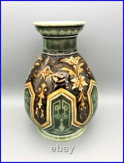 Victorian Doulton Lambeth Vase By Eliza Simmance, 1883