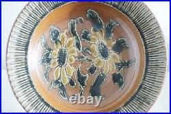 Vintage Royal Doulton Lambeth Sunflower Bowl Agnete Hoy Early 1950's